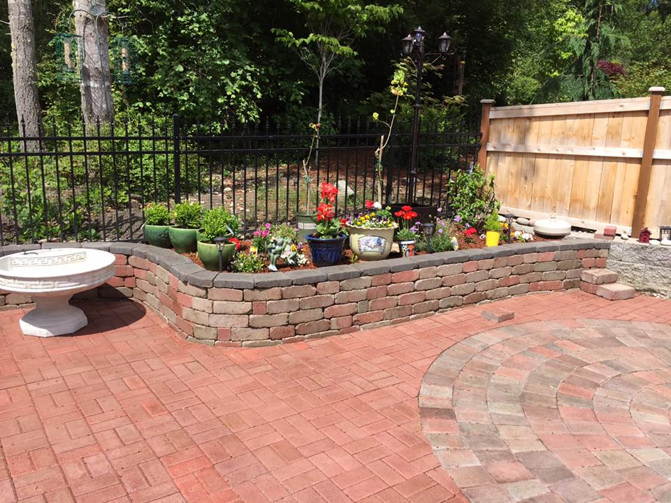 Brick backyard